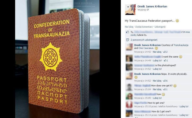 Transkaukazja (fake?) passport